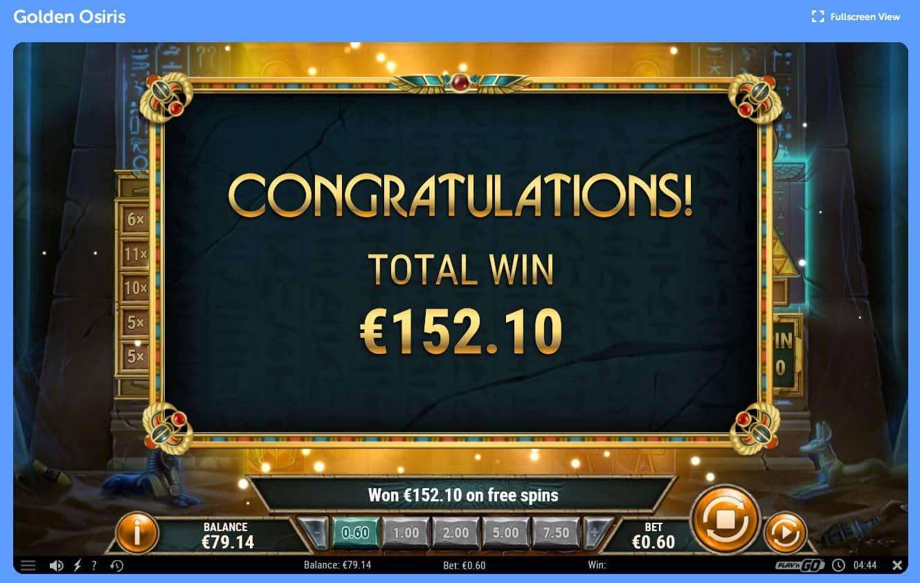 Golden Osiris Casino win picture by Mrmork666 6.2.2021 152.10e 254X