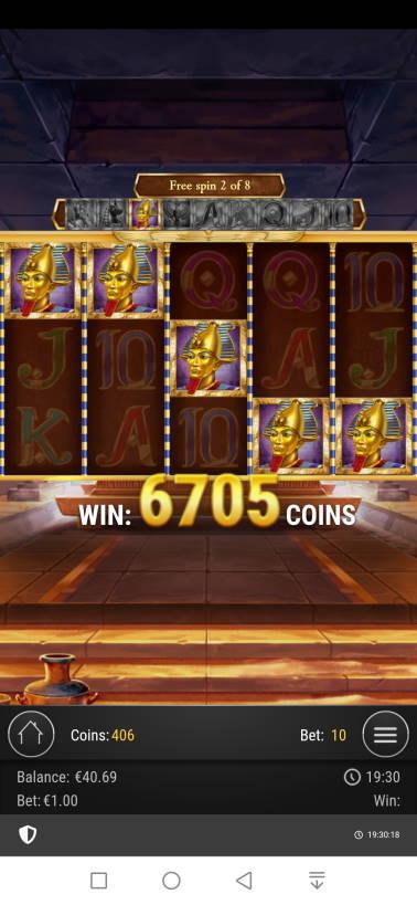 Lagacy of Dead Casino win picture by Sampulas 25.1.2021 670.50e 671X
