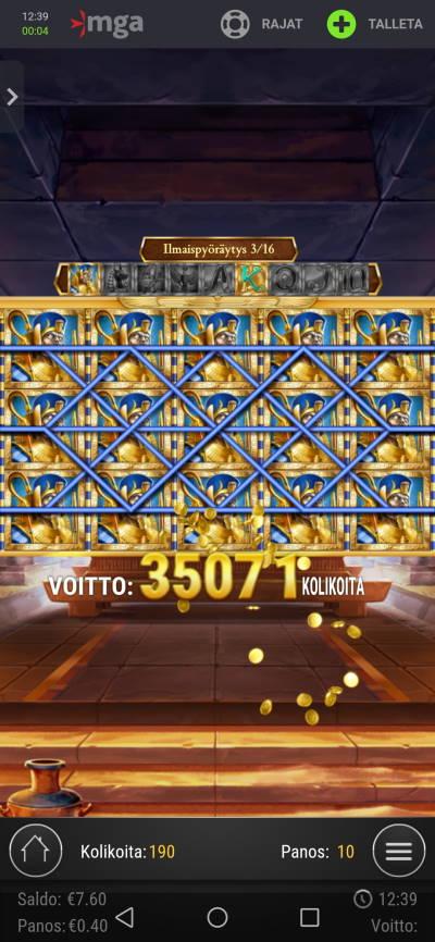 Legacy of Dead Casino win picture by Jyrkkenkloppi 11.2.2021 2080e 5200X