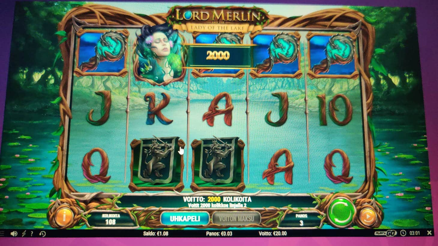 Lord Merlin Casino win picture by jiipee 1.2.2021 20e 667X