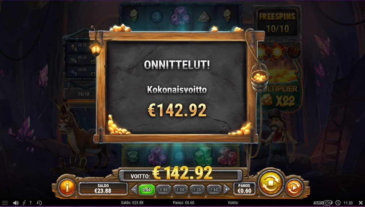 Miner Donkey Trouble Casino win picture by Kari Grandi 3.2.2021 142.92e 238X