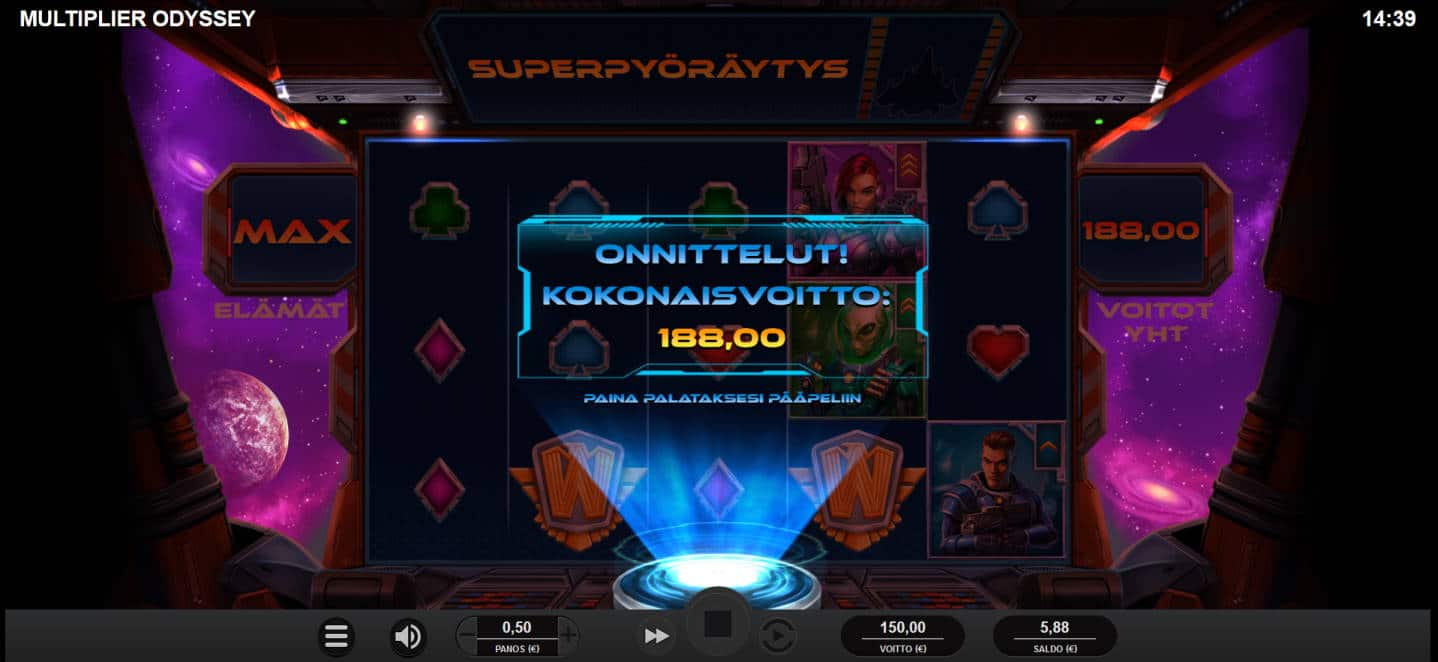 Multiplier Odyssey Casino win picture by Kari Grandi 6.2.2021 188e 376X