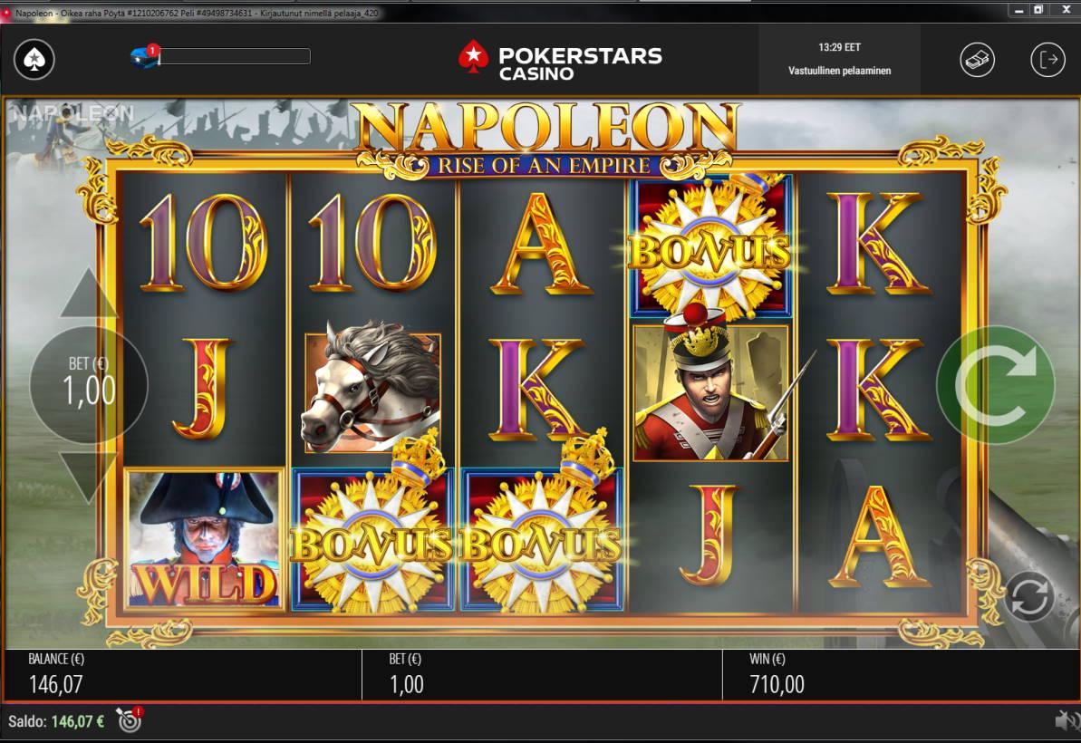 Napoleon Casino win picture by Banhamm 7.2.2021 710e 710X Pokerstars Casino