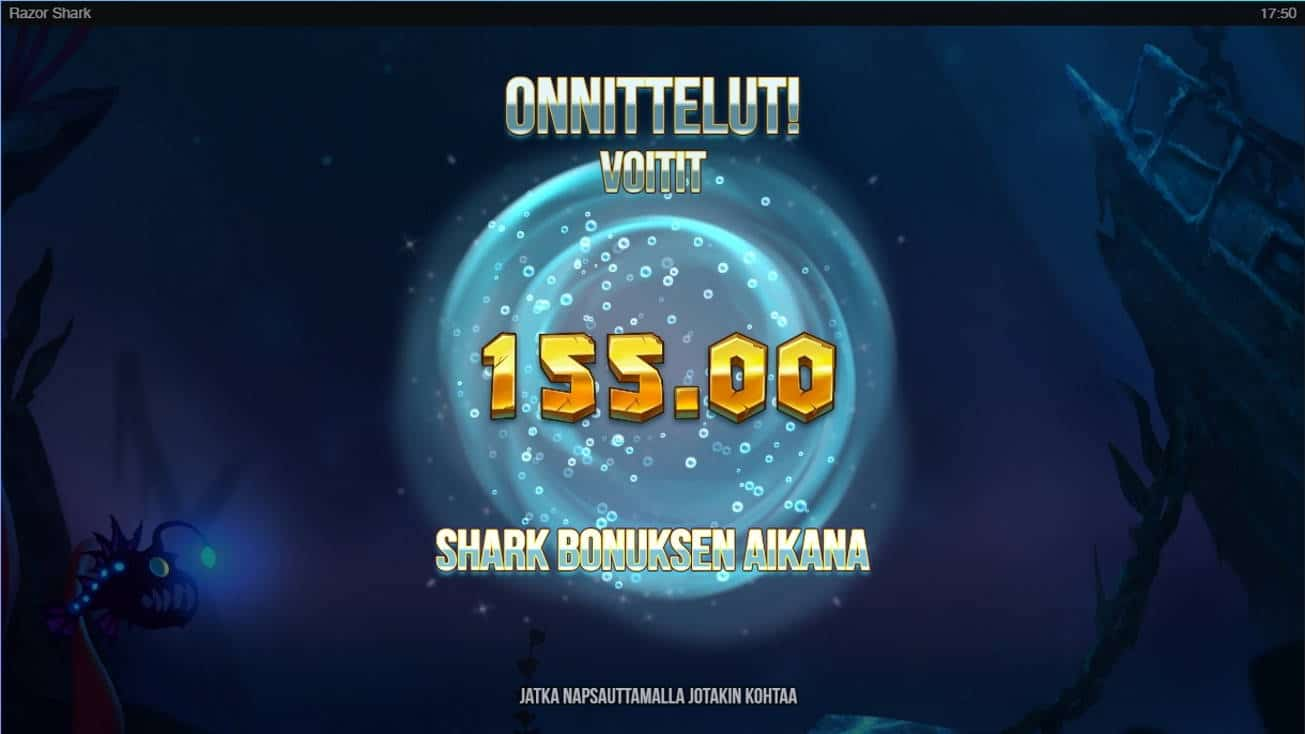 Razor Shark Casino win picture by TllKERl 6.2.2021 155e 310X