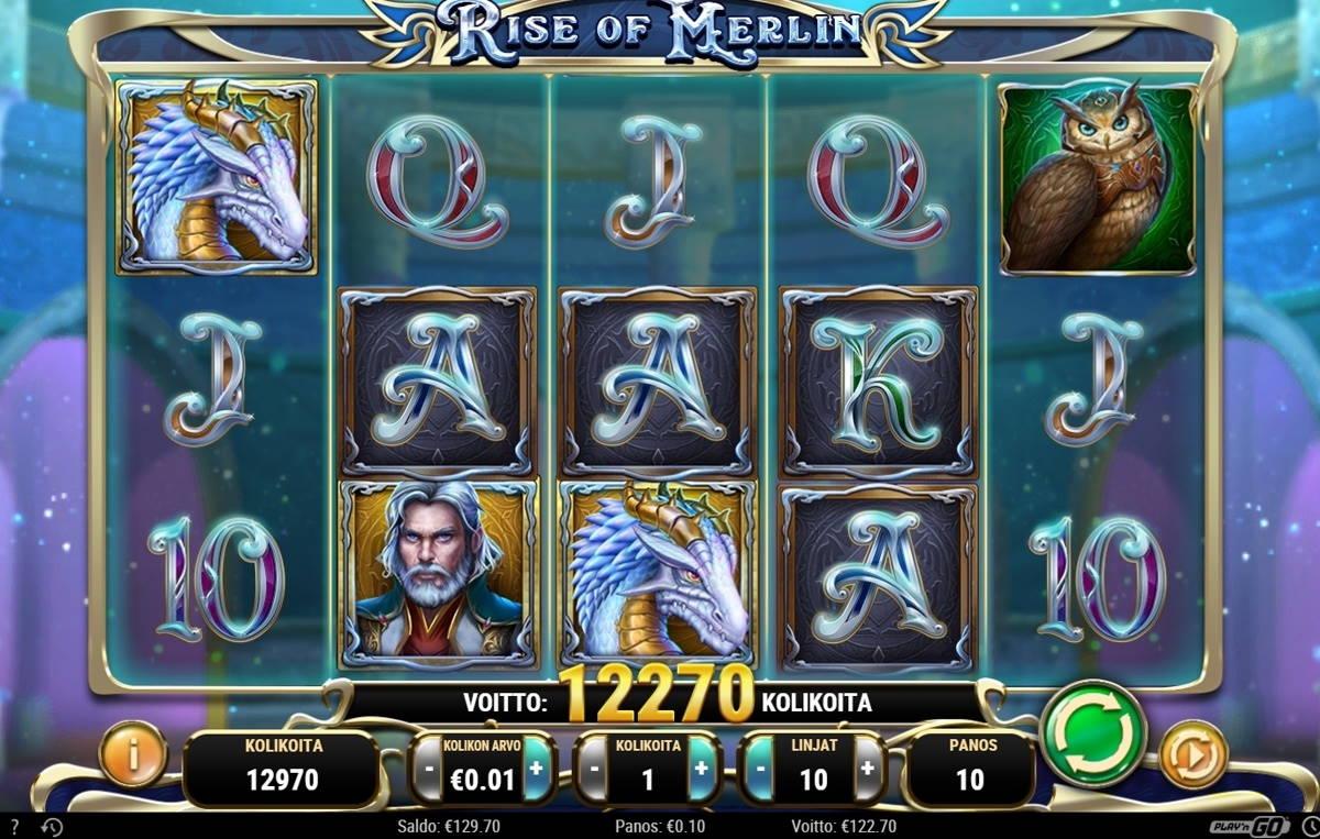 Rise of Merlin Casino win picture by ValkoVenäläine 29.1.2021 122.70e 1227X