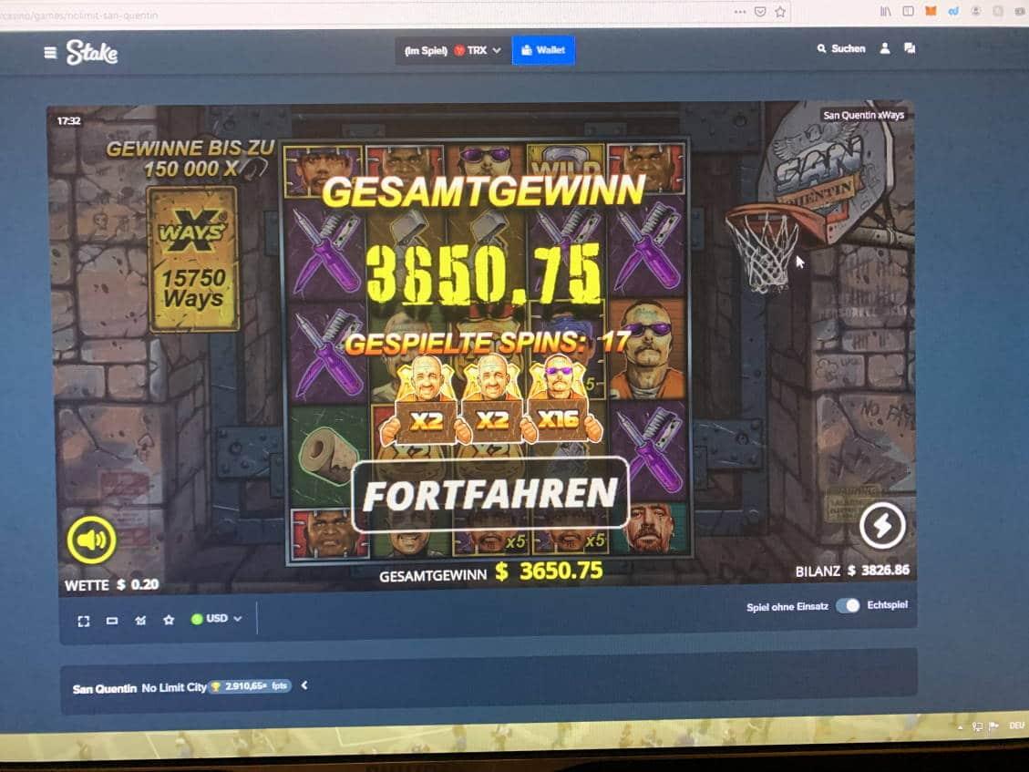 San Quentin Casino win picture by michaeltime12 10.2.2021 3650.75e 18254X