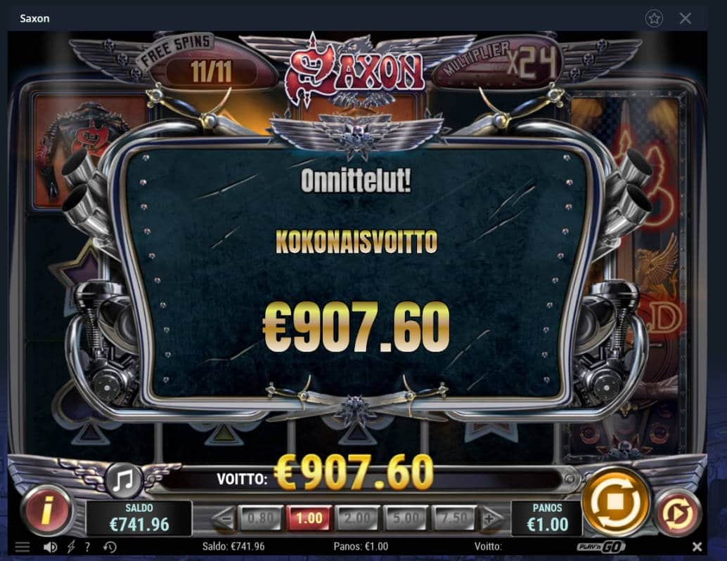 Saxon Casino win picture by Mrmork666 28.1.2021 907.60e 908X Vulkan Vegas
