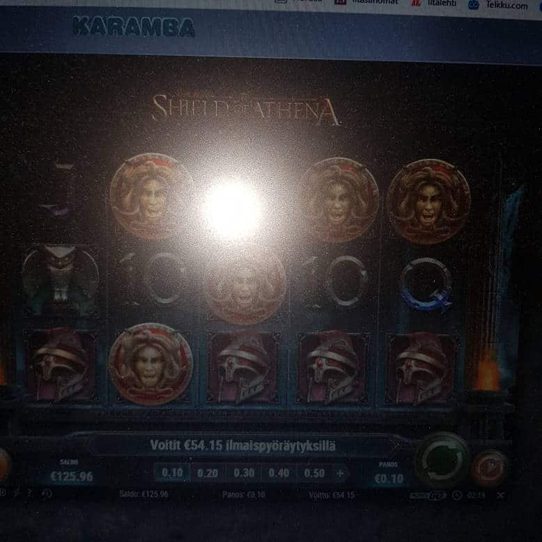Sheld of Athena Casino win picture by hessu86 17.1.2021 54.15e 542X Karamba
