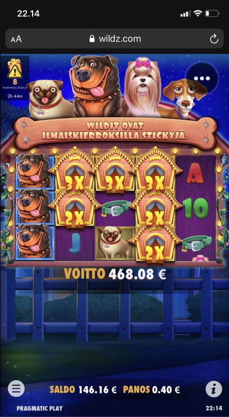 The Dog House Megaways Casino win picture by vesselis 24.1.2021 468.08e 1170X Wildz