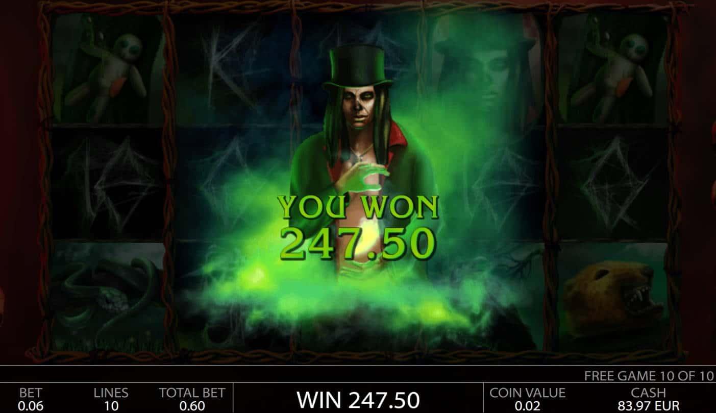 Voodoo Casino win picture by MrMork 6.2.2021 247.50e 413X