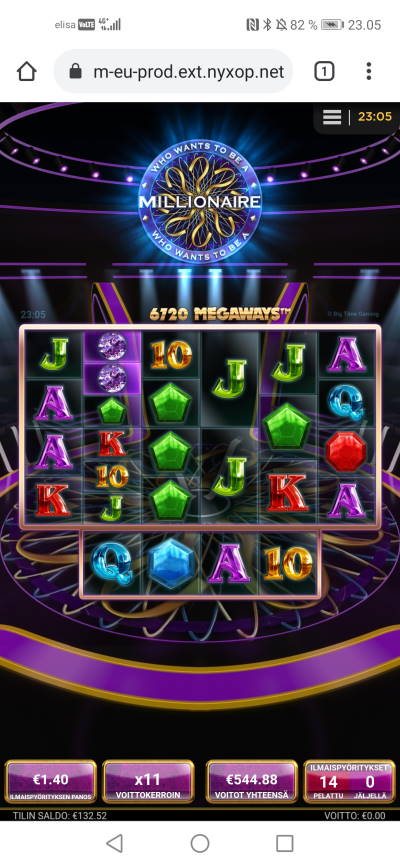 Who Wants to be a Millionaire Casino win picture by jyrkkenkloppi 7.2.2021 544.88e 389X