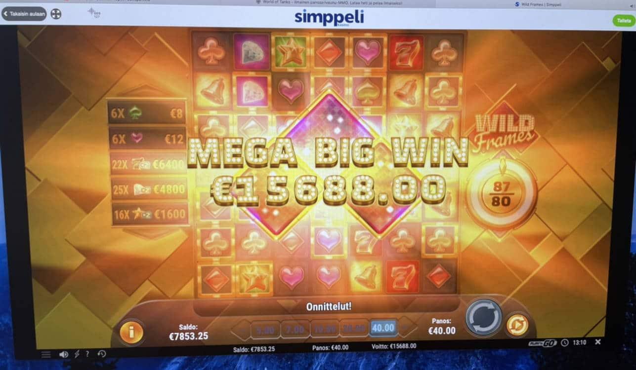 Wild Frames Casino win picture by Pottijussi 1.2.2021 15688e 392X Simppeli