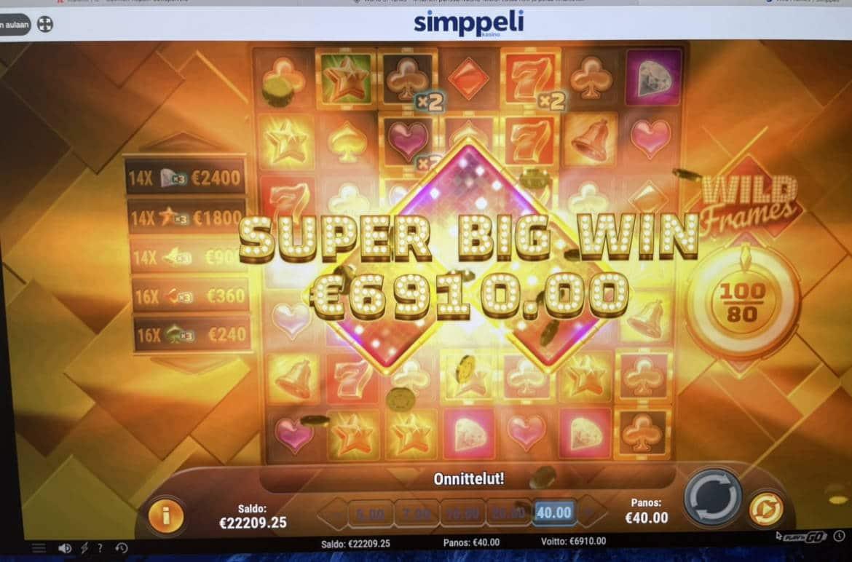 Wild Frames Casino win picture by Pottijussi 1.2.2021 6910e 173X Simppeli