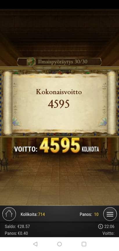 Book of Dead Casino win picture by MikoTiko 16.2.2021 183.80e 460X