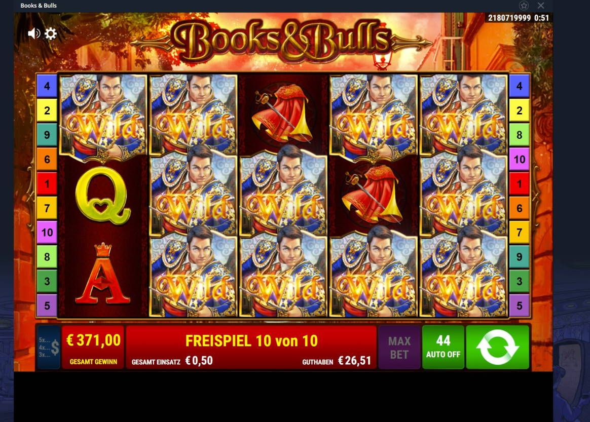 Books & Bulls Casino win picture by ok_goooogle 9.3.2021 371e 742X