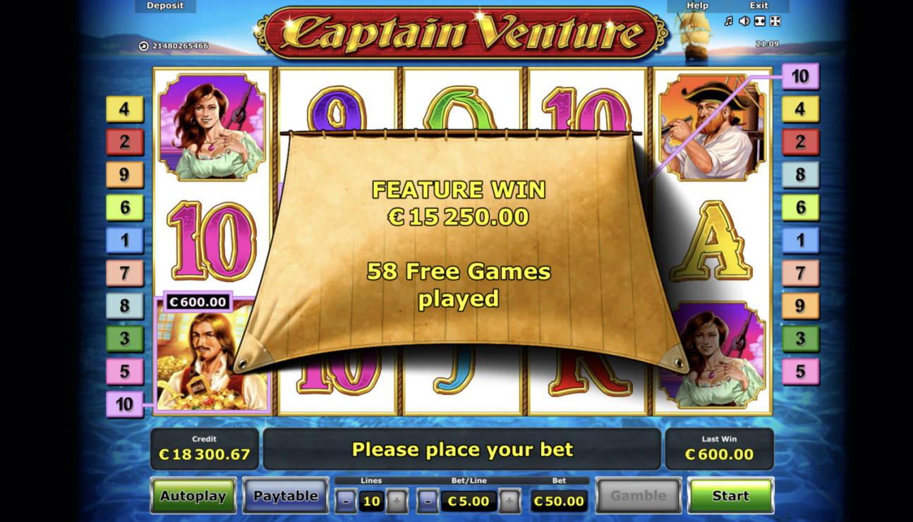 Captain Venture Casino win picture by Pottijussi 4.3.2021 15250e 305X