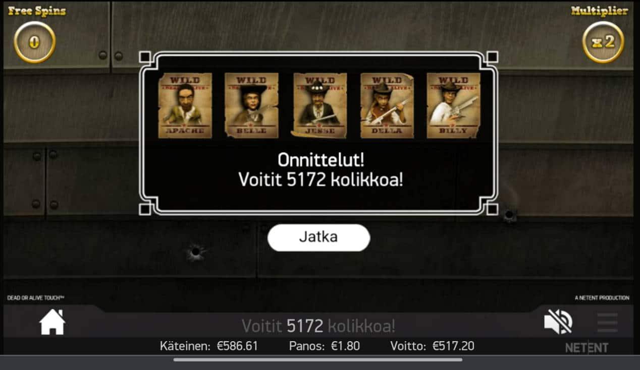 Dead or Alive Casino win picture by tiikerililja87 23.3.2021 517.20e 287X