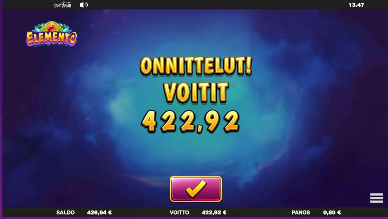 Elemento Casino win picture by MrMork 10.3.2021 422.92e 529X Wheelz