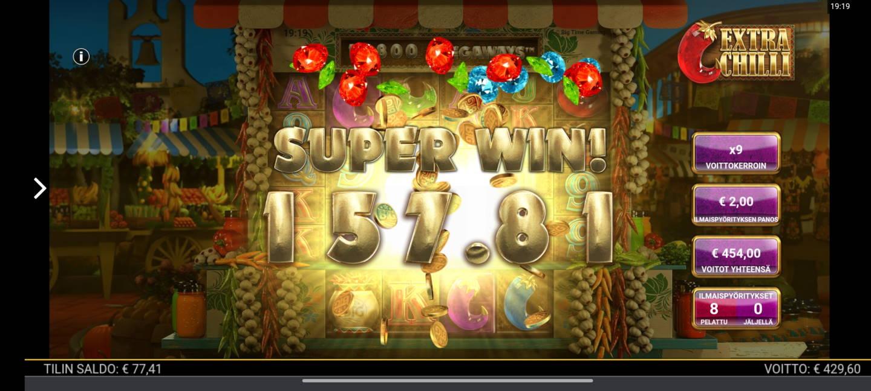 Extra Chilli Casino win picture by tiikerililja87 22.3.2021 454e 227X