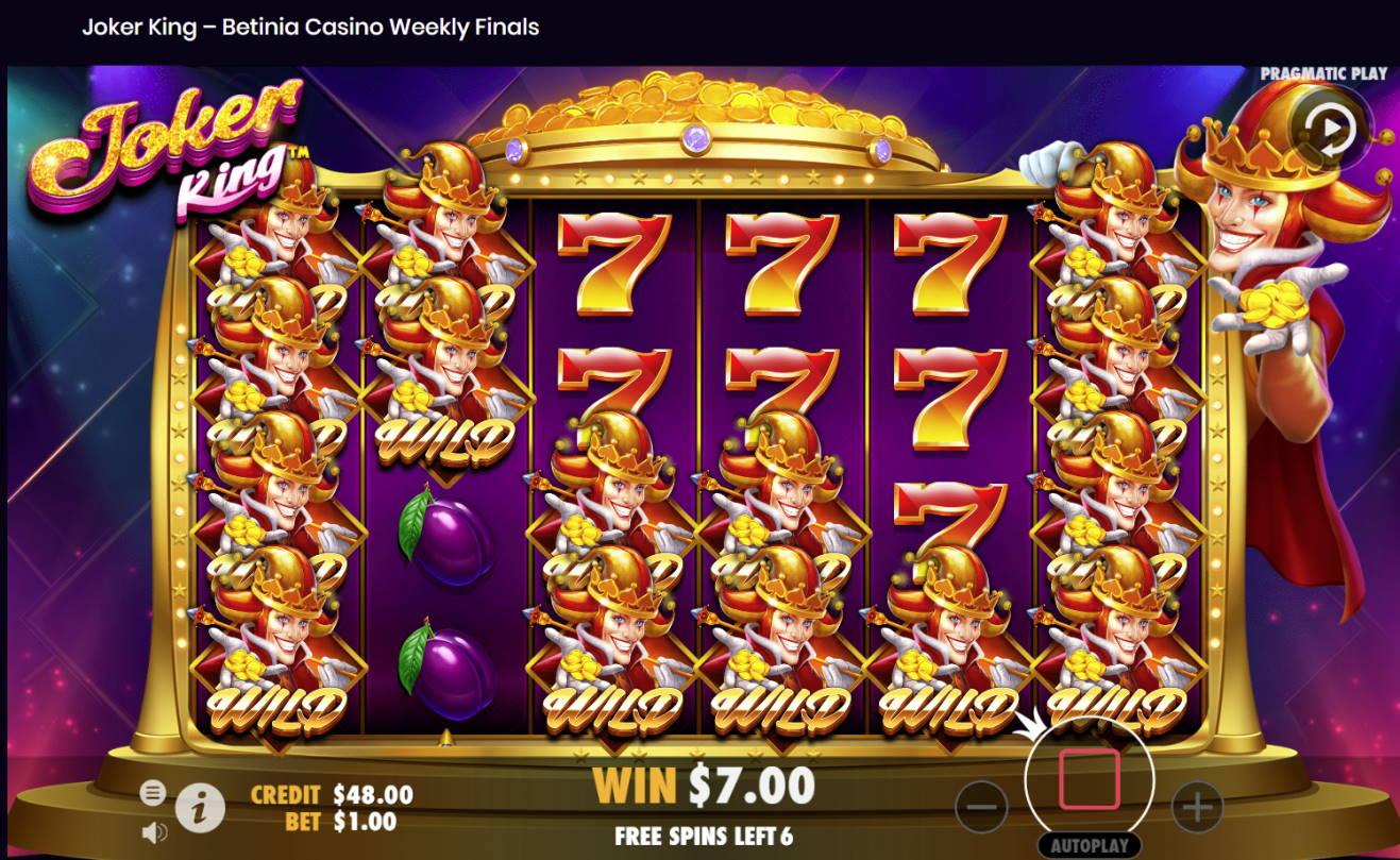 Joker King Casino win picture by Banhamm 14.3.2021 70e 70X