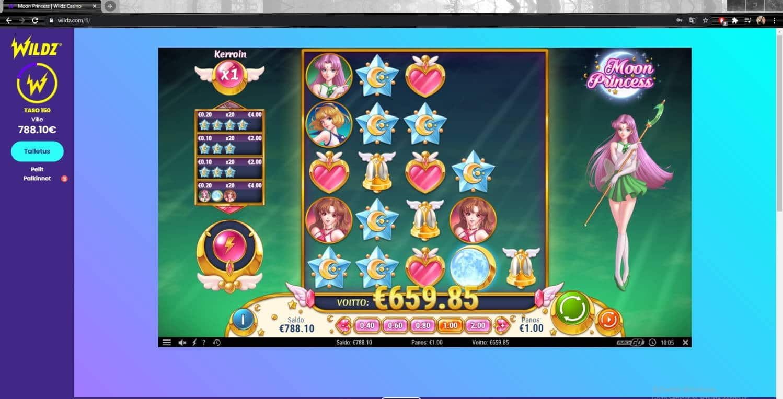 Moon Princess Casino win picture by Wilho 16.2.2021 659.85e 660X Wildz
