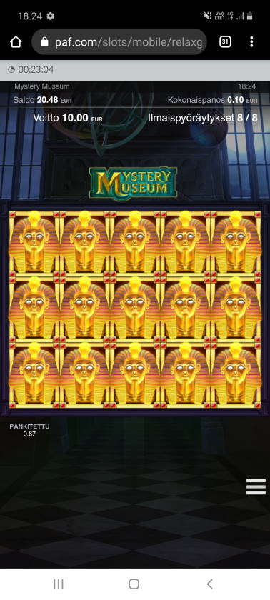 Mystery Museum Casino win picture by SJaN 15.2.2021 500e 5000X Paf