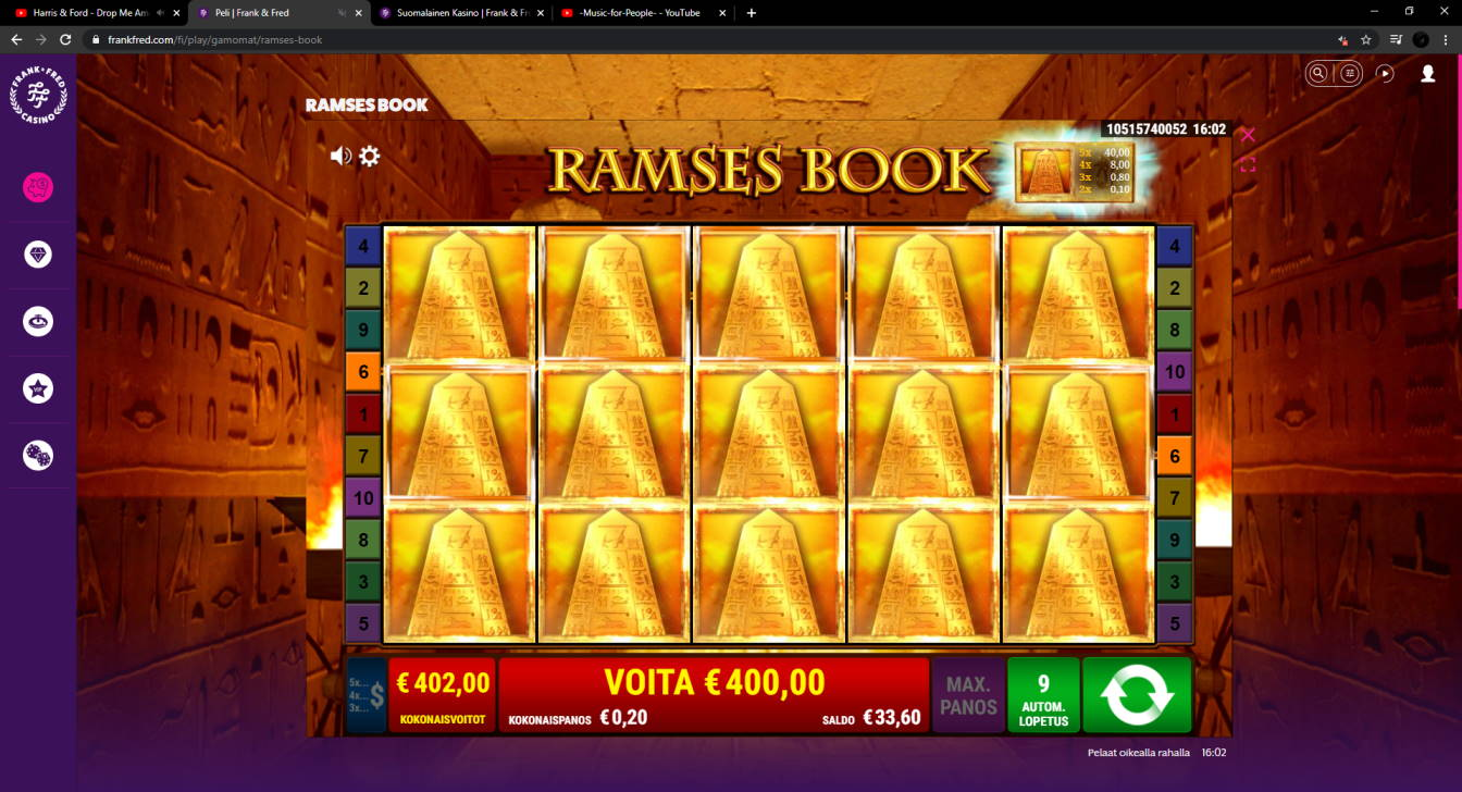 Ramses Book Casino win picture by FartyPantZ 17.3.2021 402e 2010X Frank & Fred
