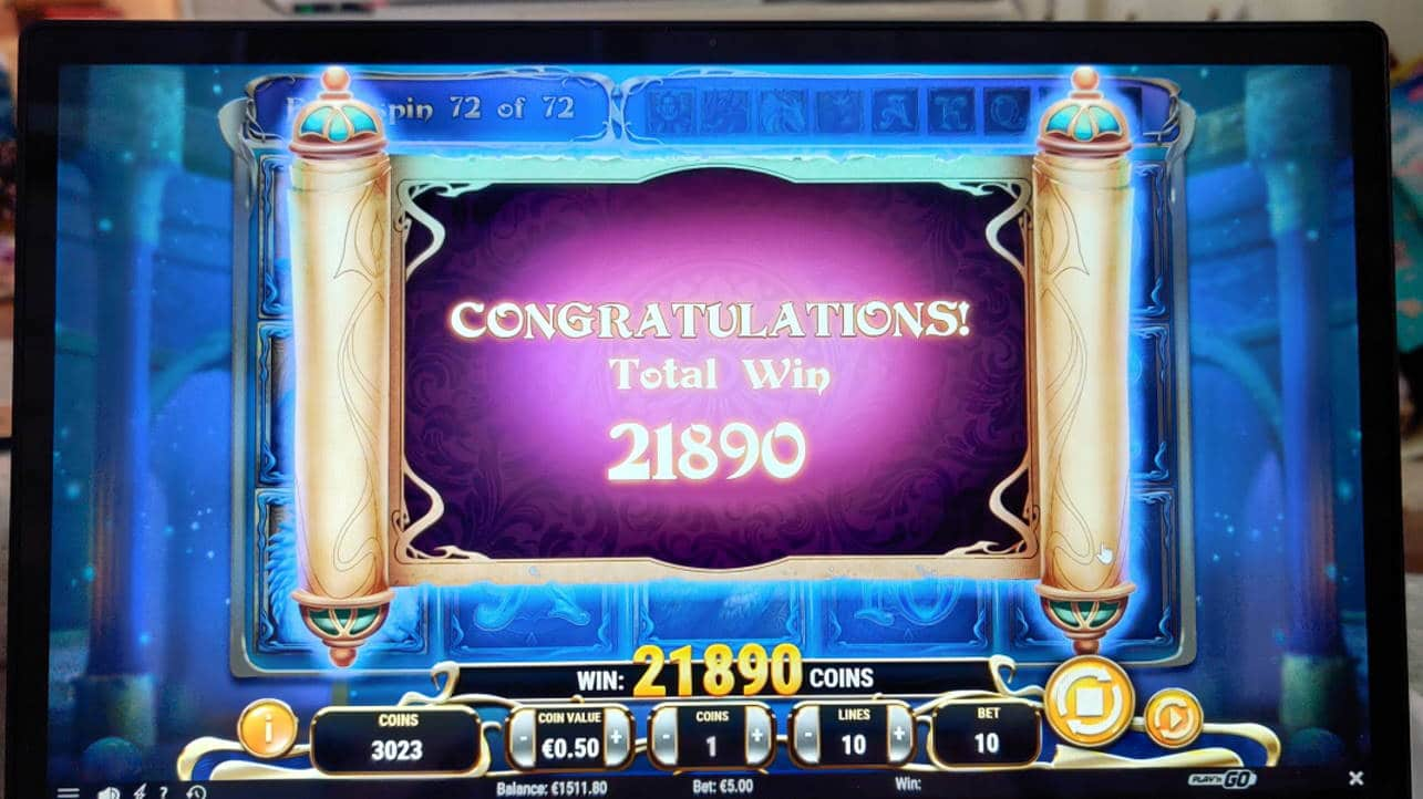 Rise of Merlin Casino win picture by Nimita90 13.1.2021 10945e 2189X