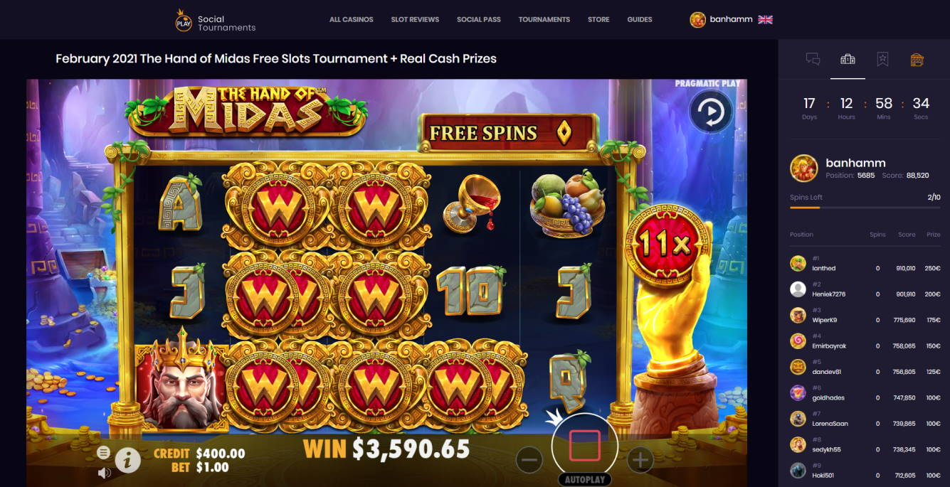 The Hand of Midas Casino win picture by Banhamm 27.2.2021 3590.65d 3591X