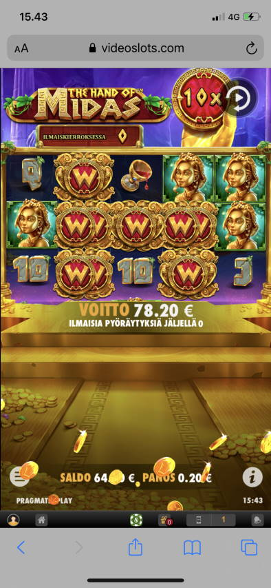 The Hand of Midas Casino win picture by leif991 25.2.2021 78.20e 391X Videoslots