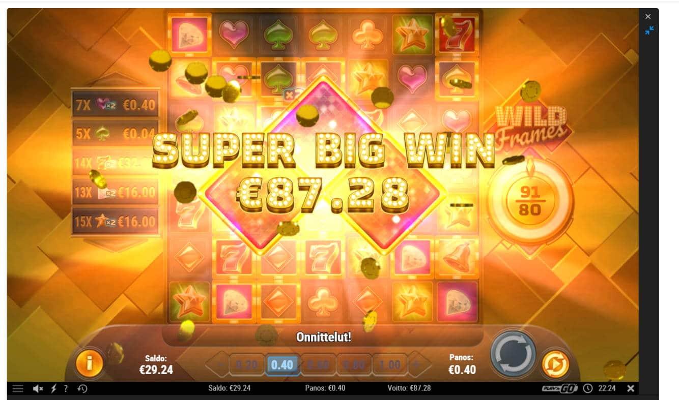 Wild Frames Casino win picture by Banhamm 15.2.2021 87.28e 218X