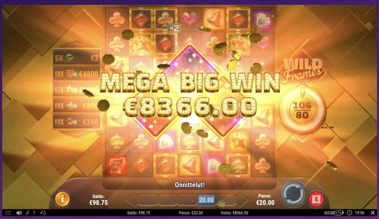 Wild Frames Casino win picture by Pottijussi 16.2.2021 8366e 418X