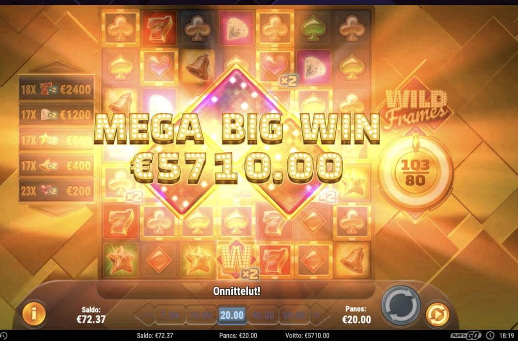 Wild Frames Casino win picture by Pottijussi 20.2.2021 5710e 286X