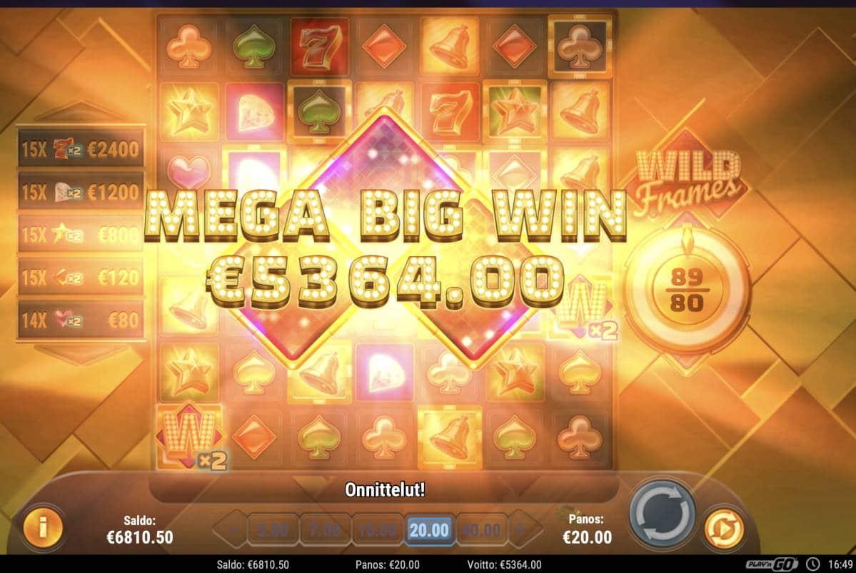 Wild Frames Casino win picture by Pottijussi 27.2.2021 5364e 268X