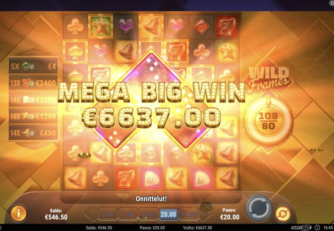 Wild Frames Casino win picture by Pottijussi 27.2.2021 6637e 332X