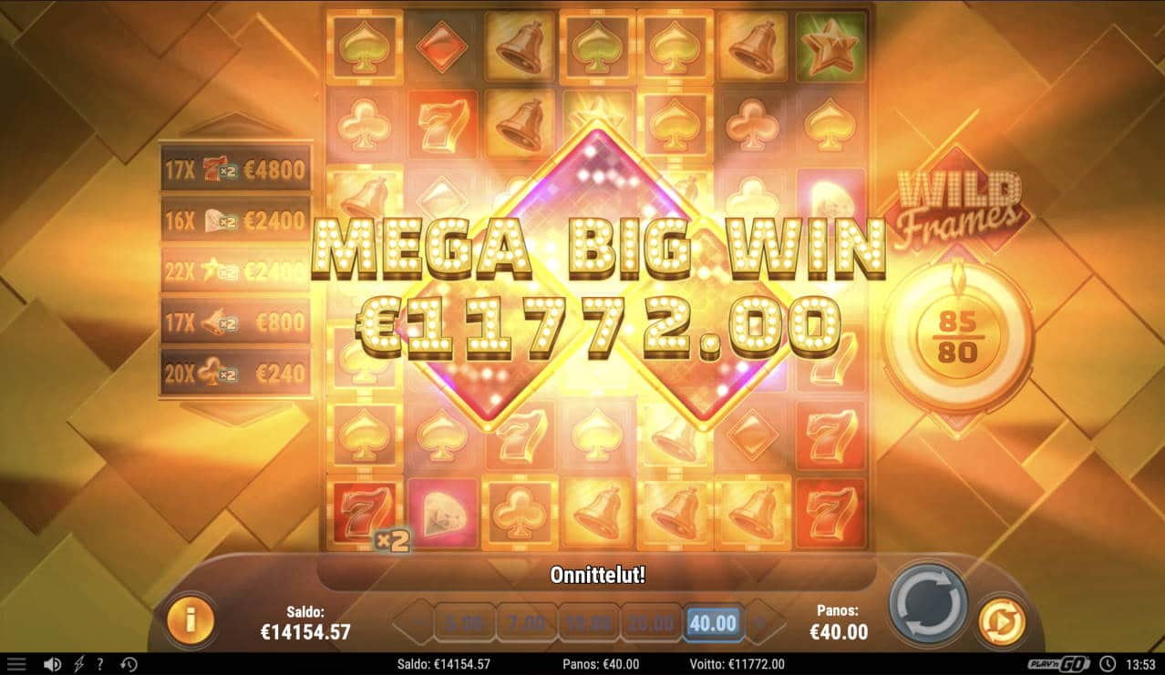Wild Frames Casino win picture by Pottijussi 3.3.2021 11772e 294X