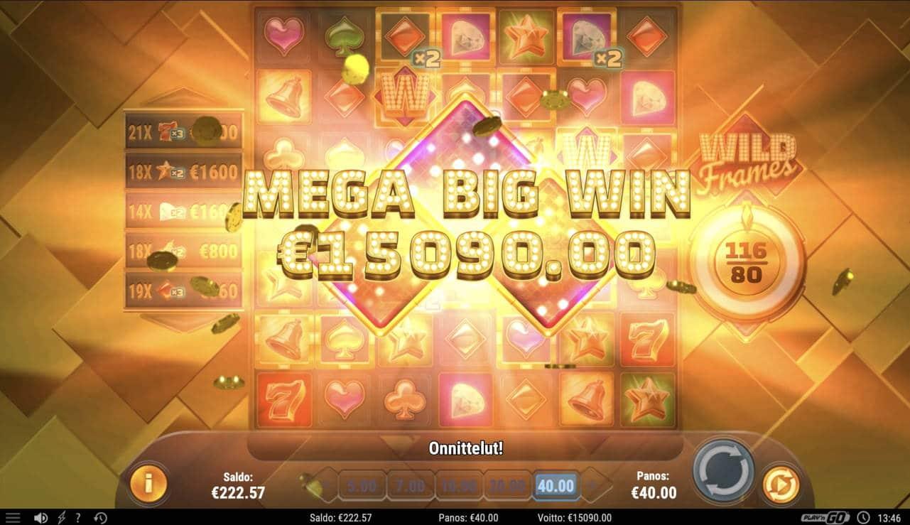 Wild Frames Casino win picture by Pottijussi 3.3.2021 15090e 377X