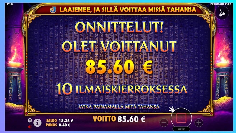 Ancient Egypt Casino win picture by dj_niemi 25.4.2021 85.60e 214X Wildz