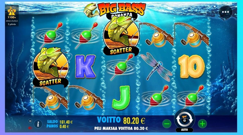 Big Bass Bonanza Casino win picture by dj_niemi 25.4.2021 80.20e 201X Wildz