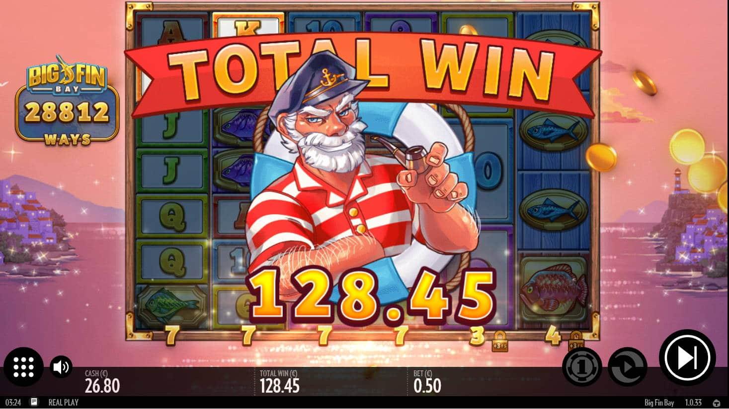 Big Fin Bay Casino win picture by Kari Grandi 8.4.2021 128.45e 257X