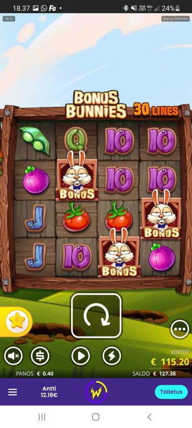 Bonus Bunnies Casino win picture by dj_niemi 6.4.2021 115.20e 288X Wildz