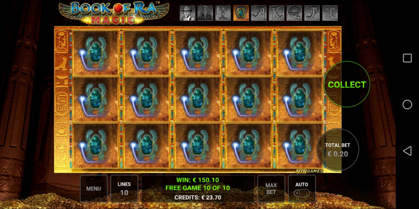 Book of Ra Magic Casino win picture by Banhamm 22.4.2021 150.10e 751X Olybet