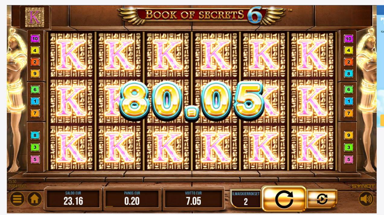 Book of Secrets 6 Casino win picture by Banhamm 16.4.2021 80.05e 400X
