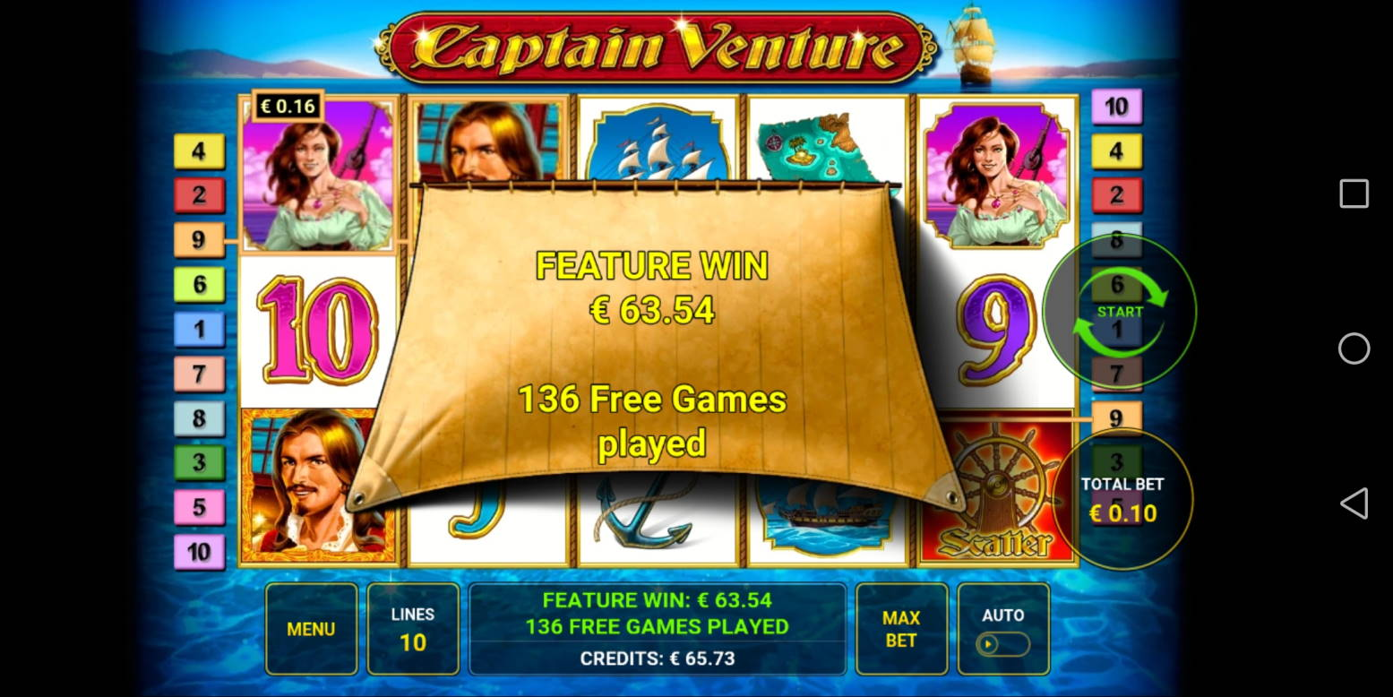 Captain Venture Casino win picture by Banhamm 14.4.2021 63.54e 635X