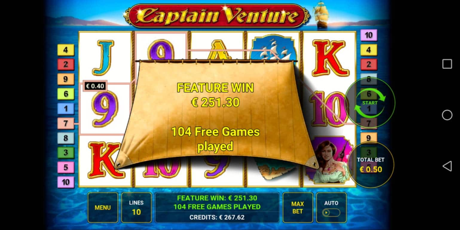 Captain Venture Casino win picture by Banhamm 23.4.2021 251.30e 503X