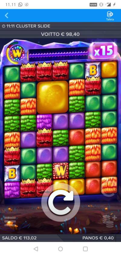 Cluster Slide Casino win picture by MikoTiko 15.4.2021 98.40e 246X