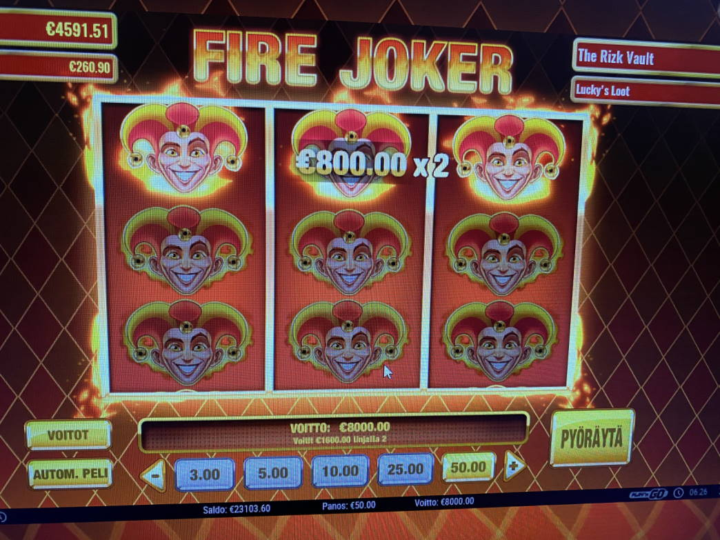 Fire Joker Casino win picture by jarttu84 25.3.2021 8000e 160X