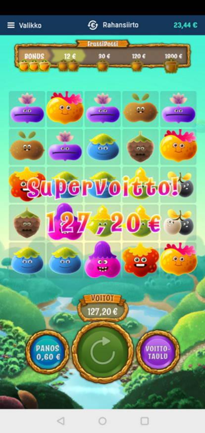 Fruitti Potti Casino win picture by MikoTiko 31.3.2021 127.20e 212X Veikkaus