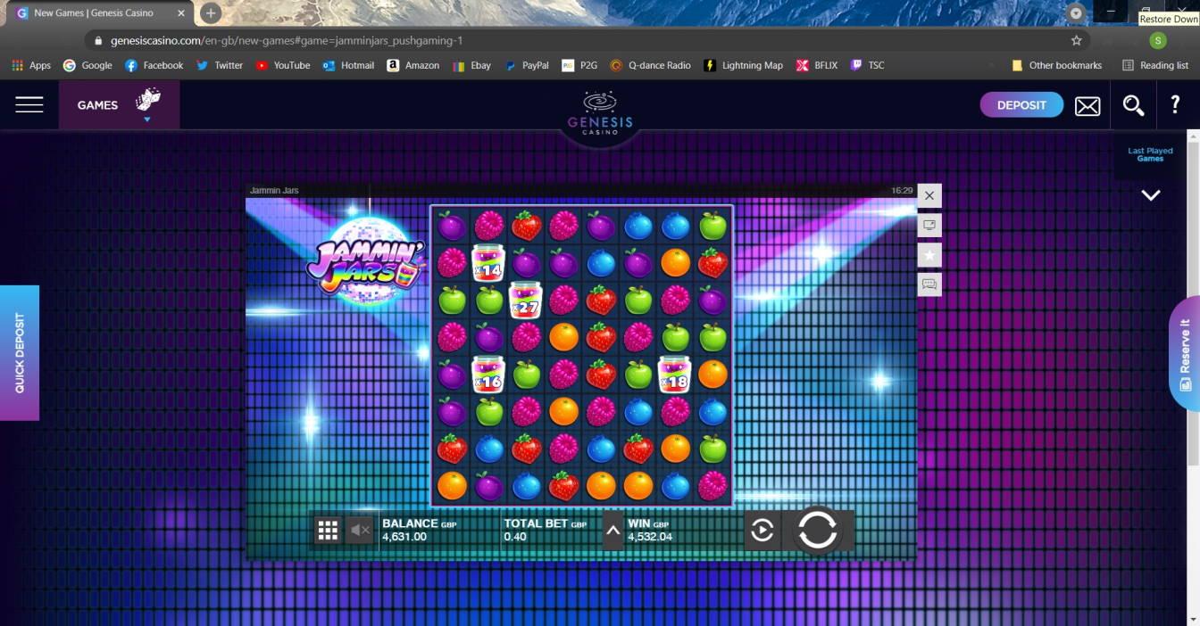 Jammin Jars Casino win picture by Macca 5.4.2021 4532.04e 11330X Genesis