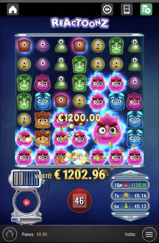 Reactoonz Casino win picture by Zenaiiii 27.3.2021 1202.96e 1504X